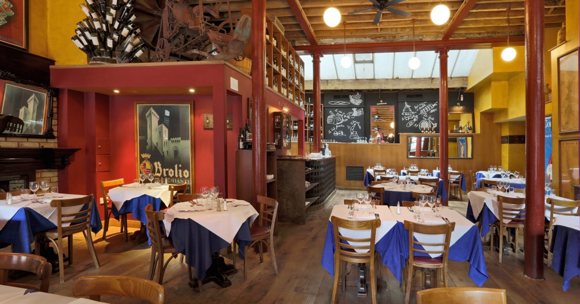 French bistro interior