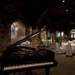 Piano wedding reception venue at the Bleeding Heart restaurant the Crypt