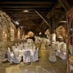Romantic wedding reception venue at Bleeding Hear the Crypt