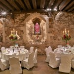best london wedding venues Bleeding Heart Restaurant - the Crypt - tables