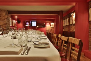 Private dinning room in London at The Cellar Room venue